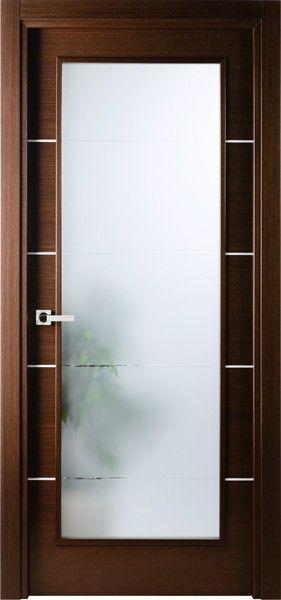 Mia Vetro Italian Wenge Interior Single Door W Frosted Glass Puertas Corredizas De Interiores Puertas De Banos Puertas Interiores