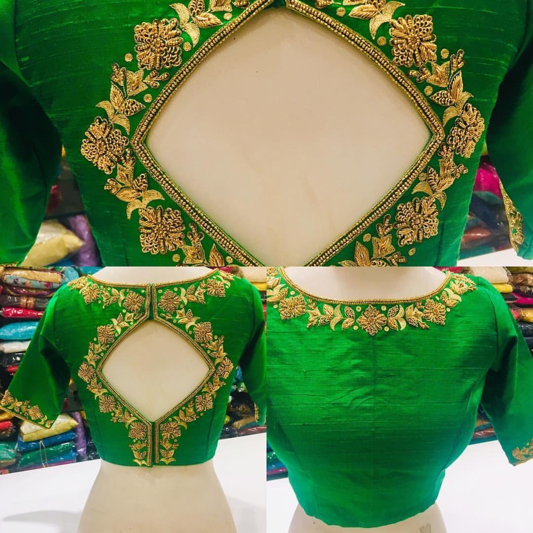 S Couture Silk Bridal Princesscutblouse Handembroidery Zardosiwork Green Beautiful On Embroidery Blouse Designs Blouse Designs Silk Blouse Work Designs