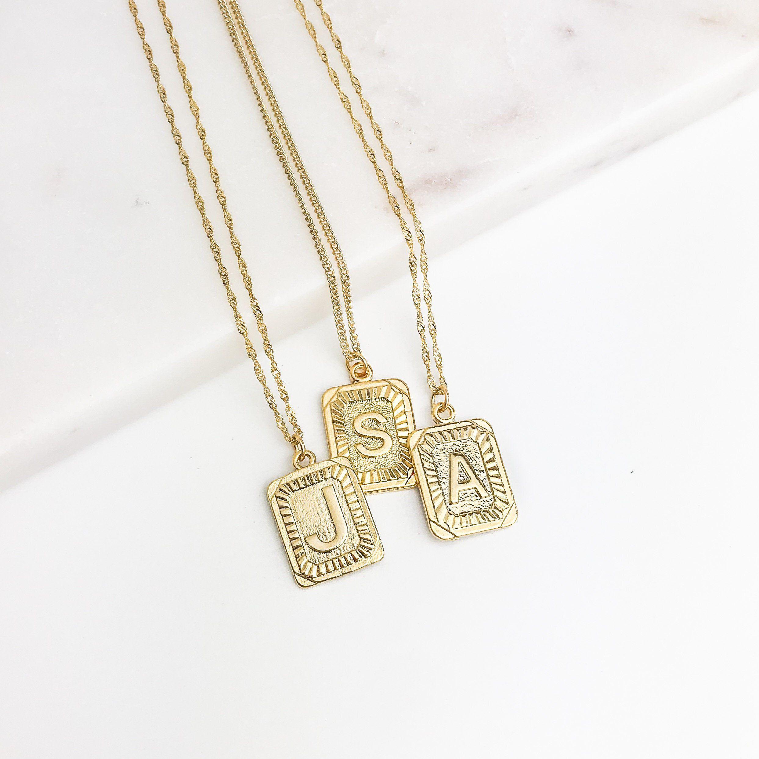 nostalgia coin necklace set