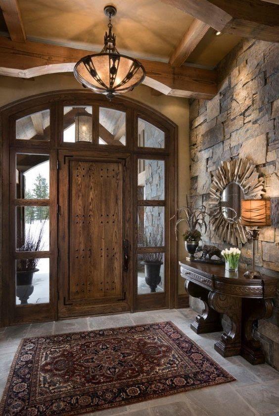 Moderna y rustica ¡Esta casa te va a encantar! Muebles rústicos