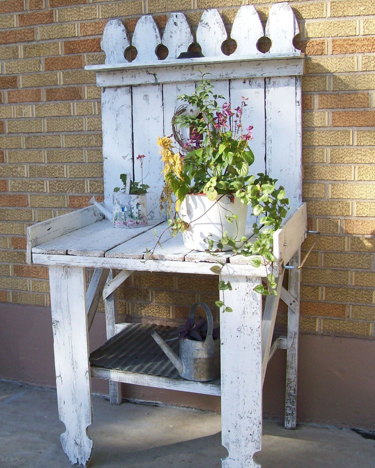 White Shabby Chic Style Country Cottage by 3vintagehearts on Etsy, $299.00