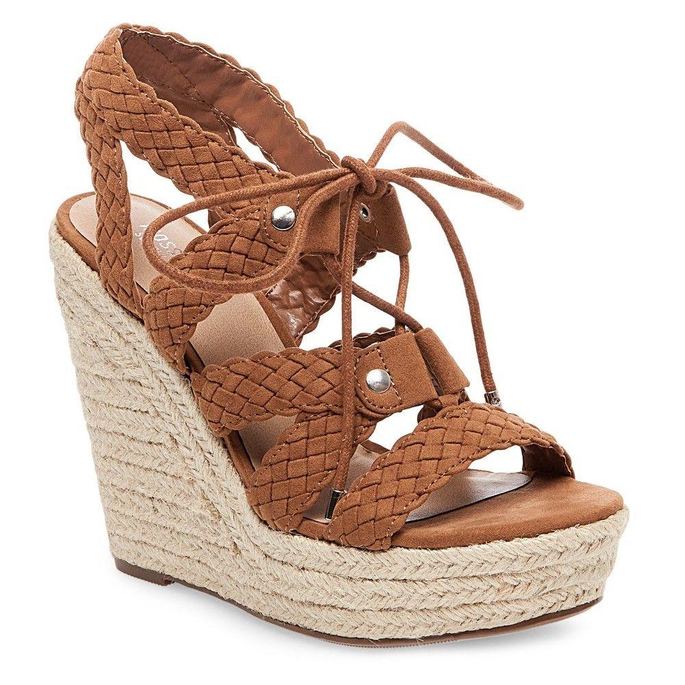 b2ec8f701908f Women's Helia Platform Lace Up Espadrille Wedge Sandals Mossimo ...