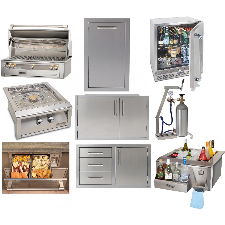 Alfresco Luxury 9 Piece 42 Inch Natural Gas Outdoor Kitchen Package Luxury Outdoor Kitchen Outdoor Kitchen Outdoor Kitchen Plans