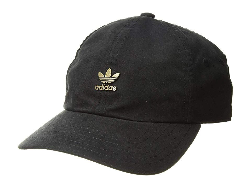 b89c4cf6 adidas Originals Originals Relaxed Metal Strapback (Black/Antique Gold) Caps.  Leave the