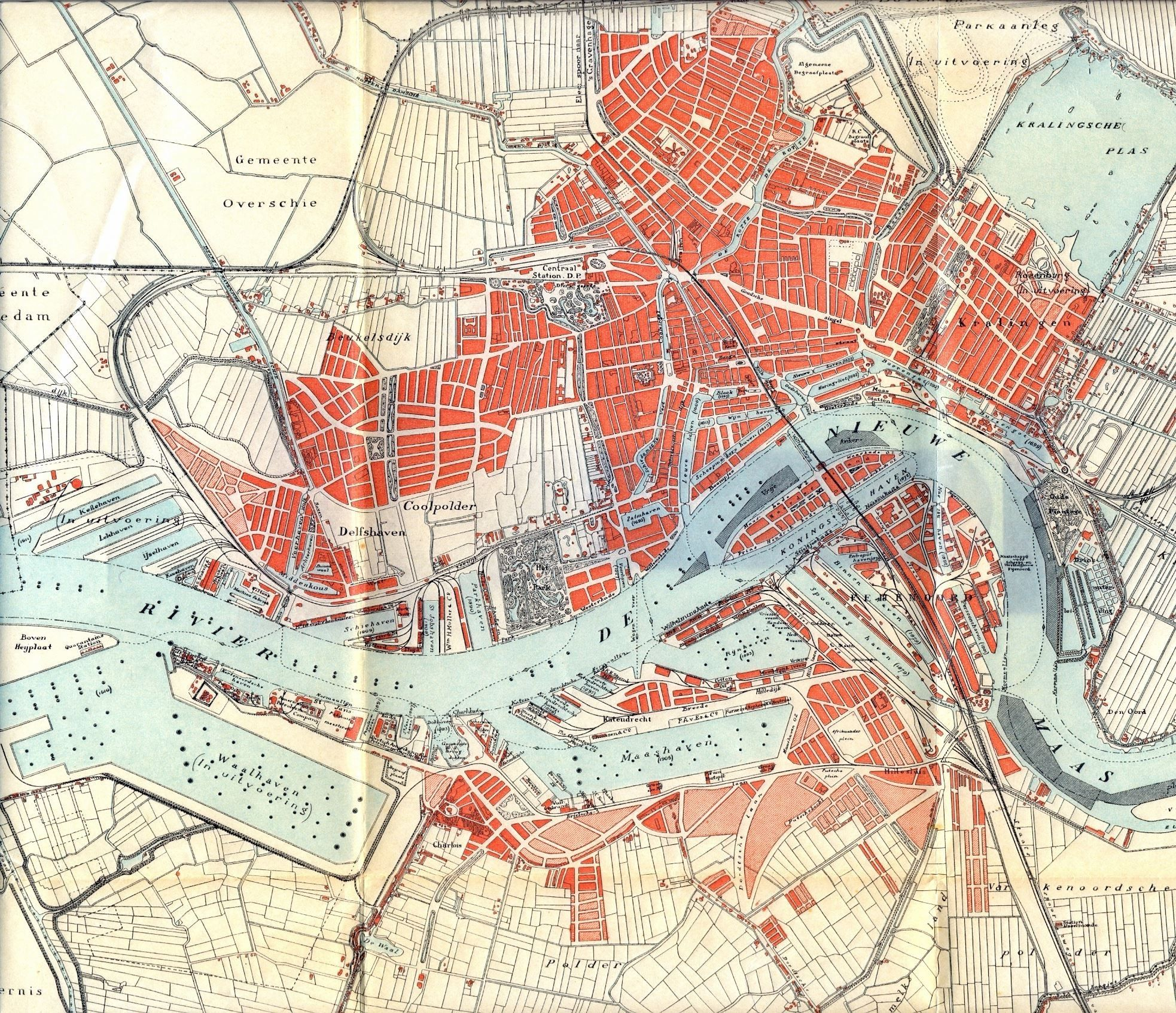 Kaart van Rotterdam 1912 #map #rotterdam #netherlands | Big Board of ...