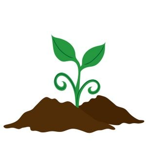 Plant cartoon. Soil clipart suggest journaling