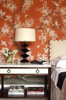 chinoiserie chic saturday inspiration orange chinoiserie walls rh pinterest com
