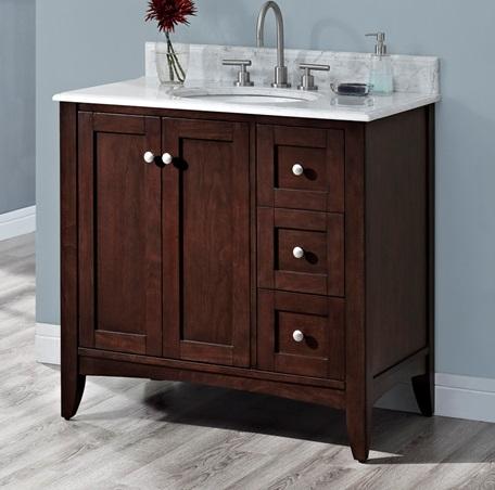 Chicago 60 Single Sink Bathroom Vanity Cabinet White Washed