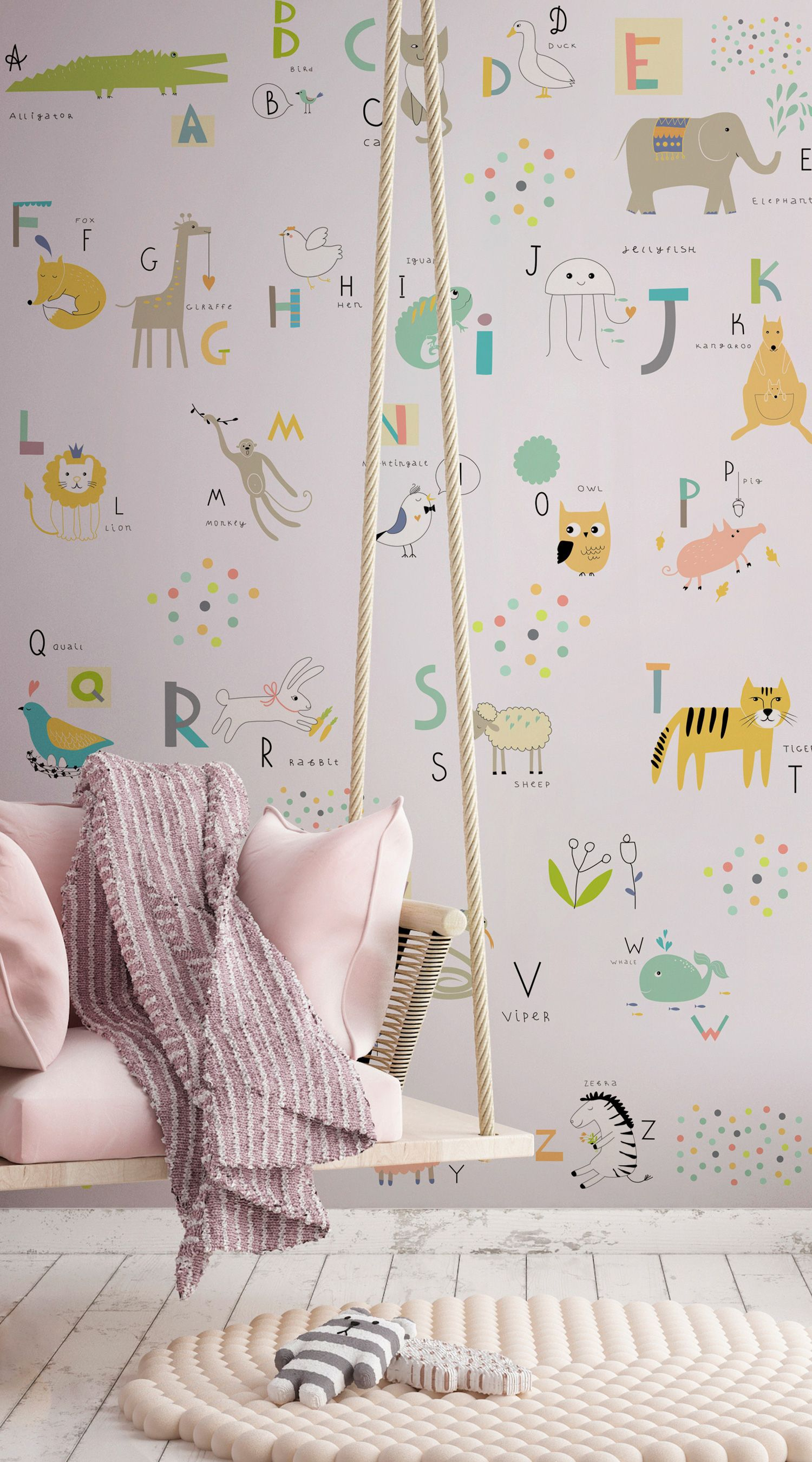 Educational Wallpapers; The Perfect Ideas for your Kid's Bedroom is part of Kids bedroom Murals - By their very nature, children are imaginative, creative and full of life, so it only makes sense that their spaces should be filled with vibrant energy