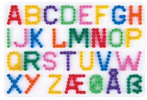 Perler Beads Letter Templates | Hama Beads Alphabet Pegboard