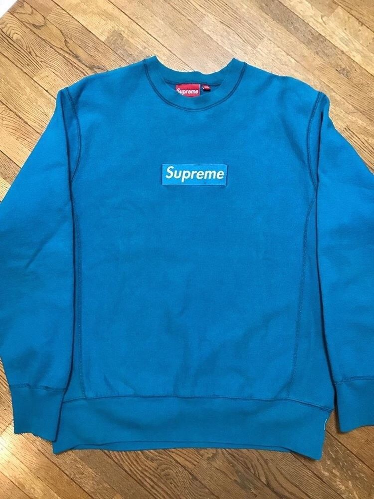 Supreme Box Logo crewneck teal large 2006 fashion