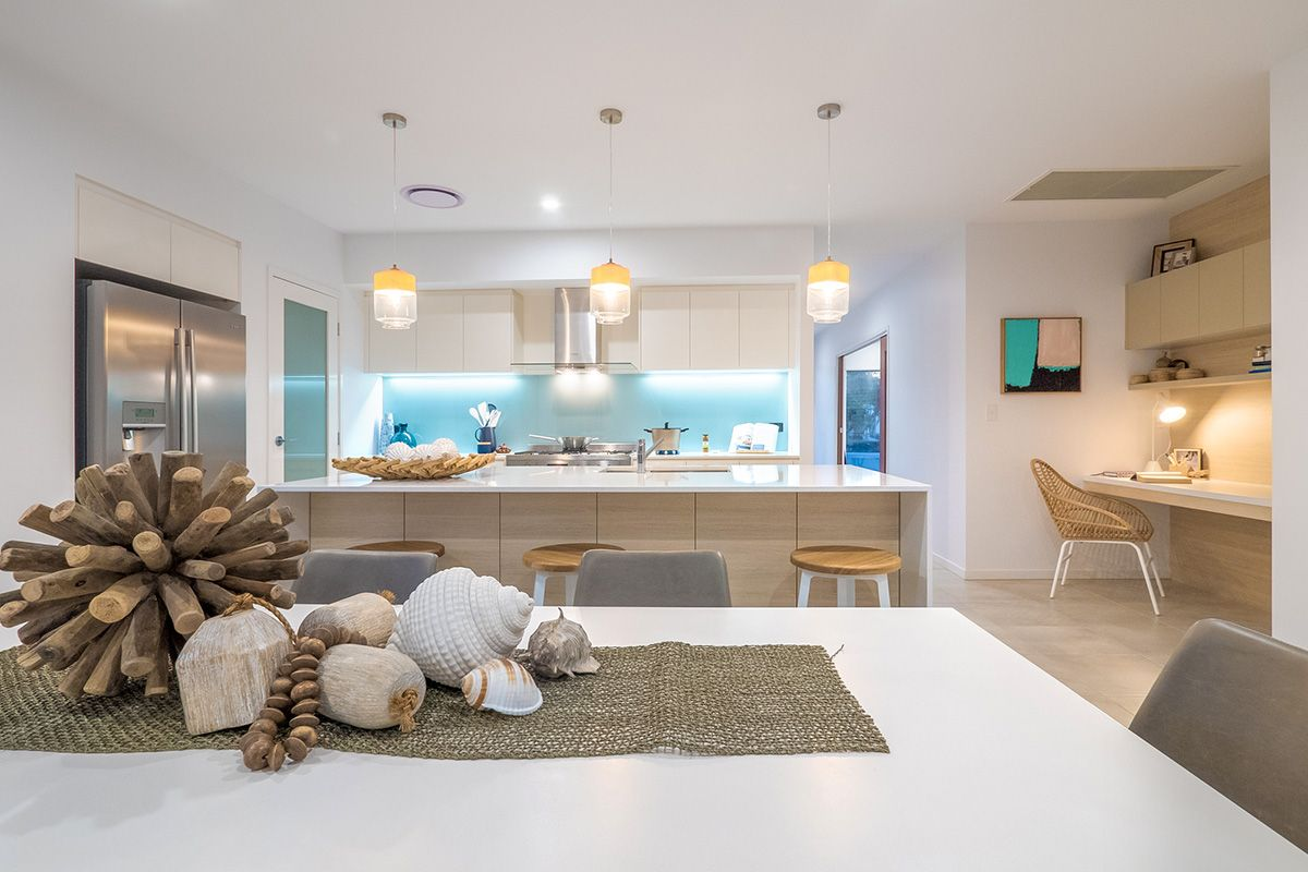 For impact u interest in a space add pendant lights striking