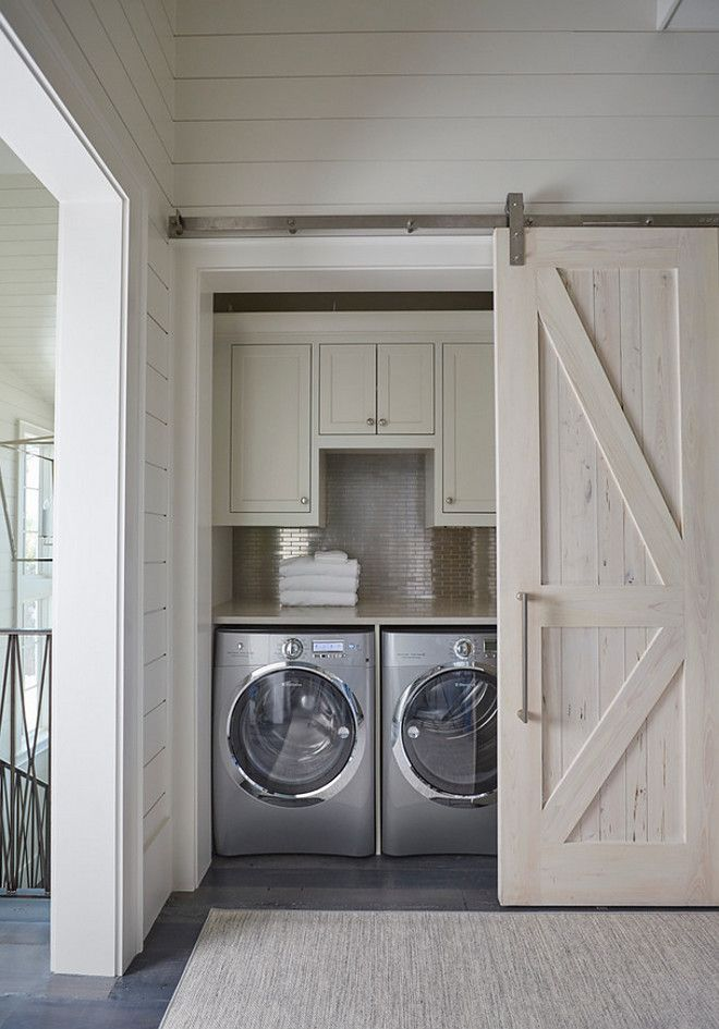 Laundry Nook Barn Door 27 Awesome Sliding