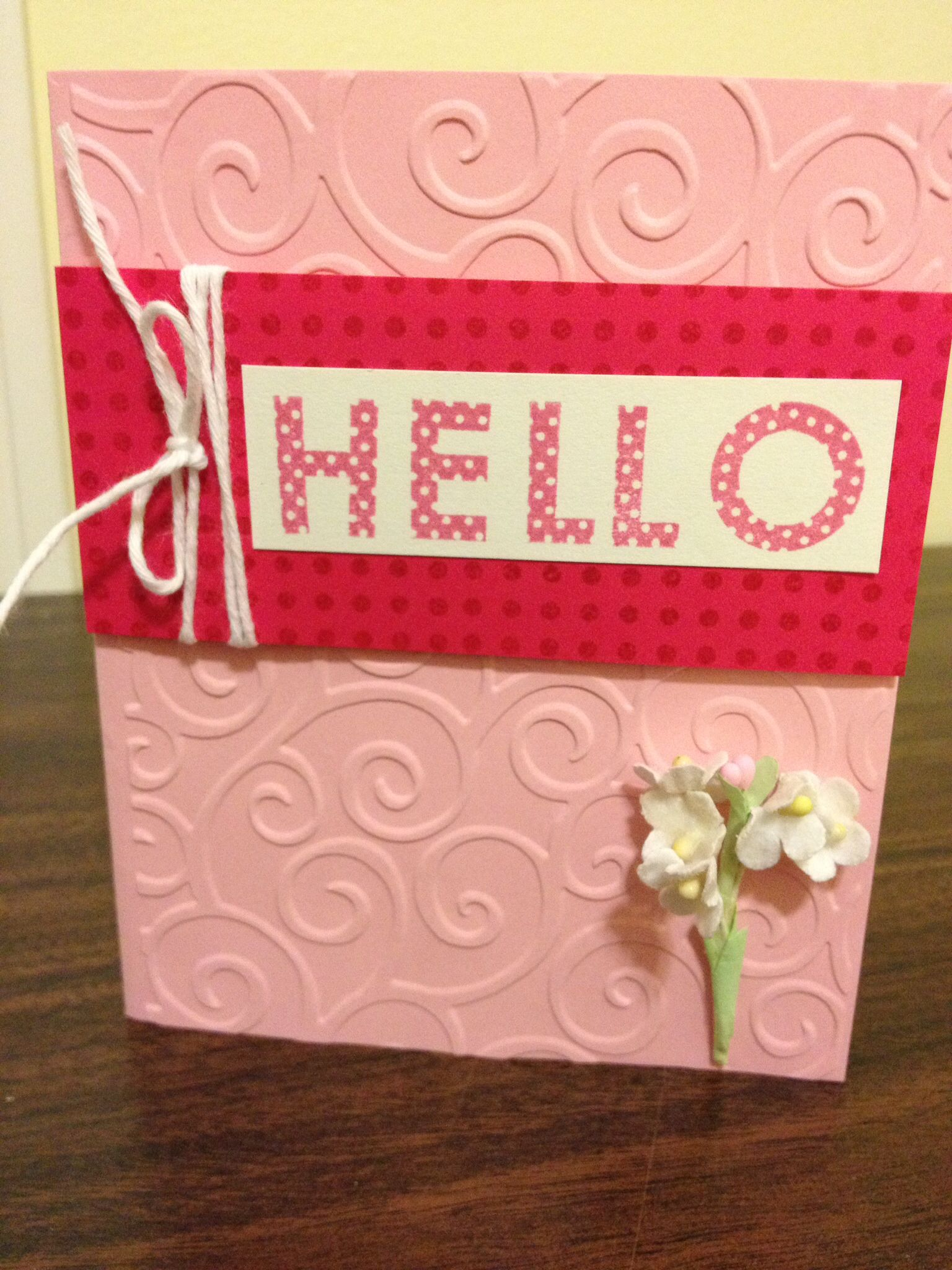 Easy fast card with close to my heart stamps and paper