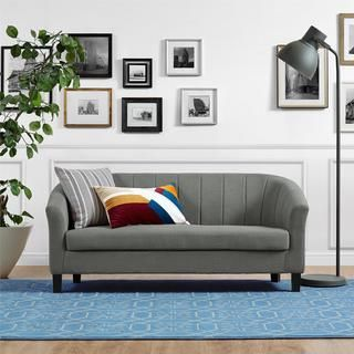 shop for dorel living evelyn grey sofa get free shipping at rh pinterest com