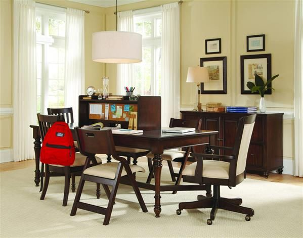 Homework 7pc Home Office Furniture Set W 60 Inch Workstation Table