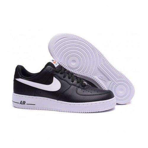 online store 2165b 1689f Beste Nike Air Force 1 Low Herre Joggesko Svart Hvit 0303