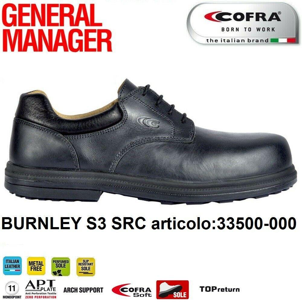 SCARPE ANTINFORTUNISTICA COFRA BURNLEY S3 SRC calzature per