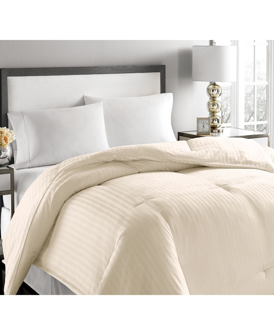 Blue Ridge 500-Thread Count Damask Stripe King White Down Comforter & Reviews - Comforters - Bed & Bath - Macy's #downcomforter