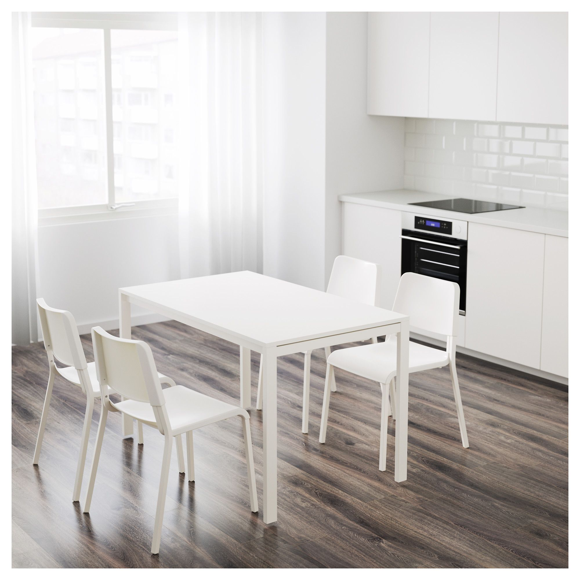 ikea melltorp teodores table and 4 chairs white rh pinterest com