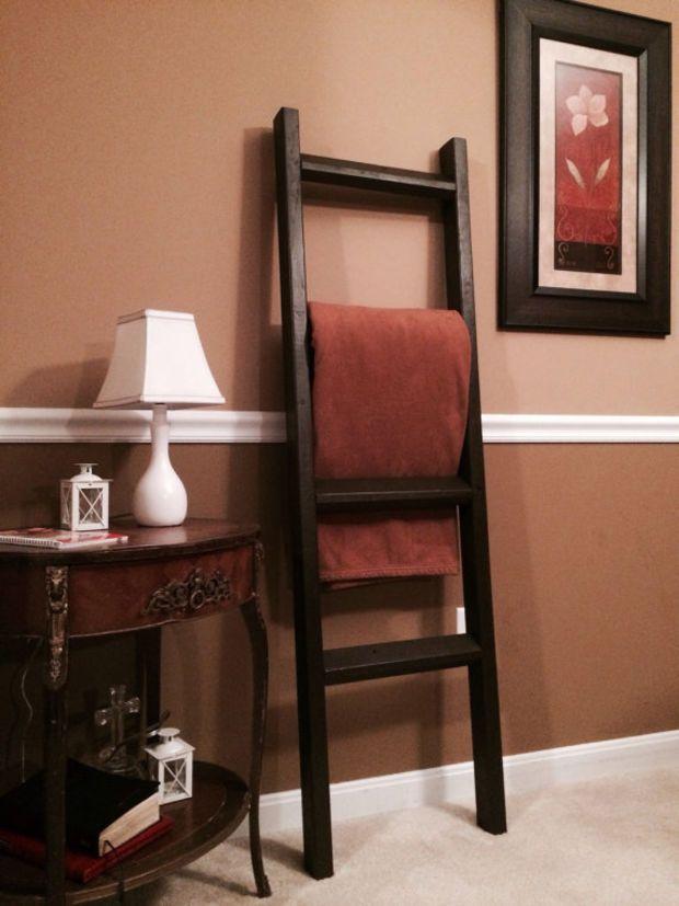 espresso rustic blanket ladder rustic home decor quilt rack rh pinterest com