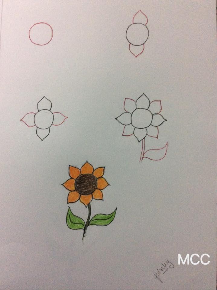 Adim Adim Kolay Cicek Cizme 8 Mimuu Com Doodle Desenleri Easy Pencil Drawings Cicek