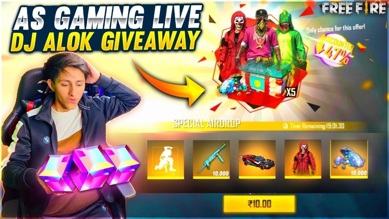 Free fire live new event dj alok giveaway custom room