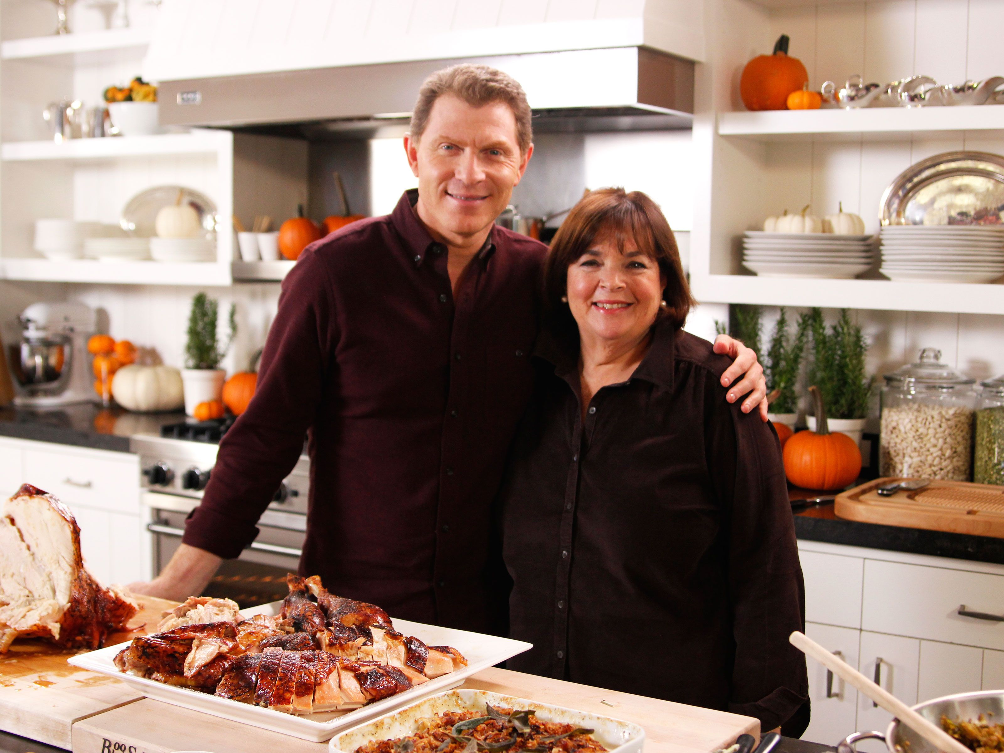 a barefoot thanksgiving with ina and bobby | thanksgiving