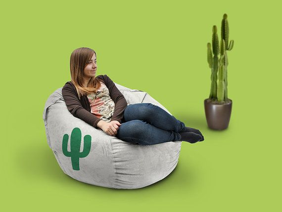 Lounge Chair Cactus Bean Bag Customized Soft Comfort High Quality