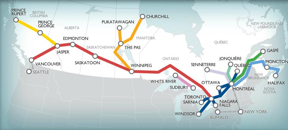 viarailmapstationscanada New adventures Canada
