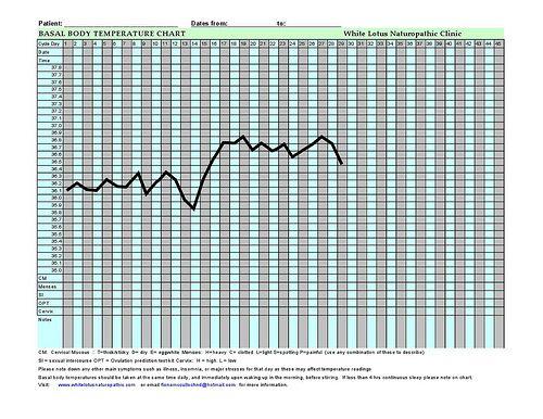 Basal Body Temperature Chart Bbt Basal Body Temperature Chart