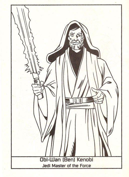 Swbenkenobi Star Wars Coloring Book Luke Skywalker Jedi Knight Disney Coloring Pages