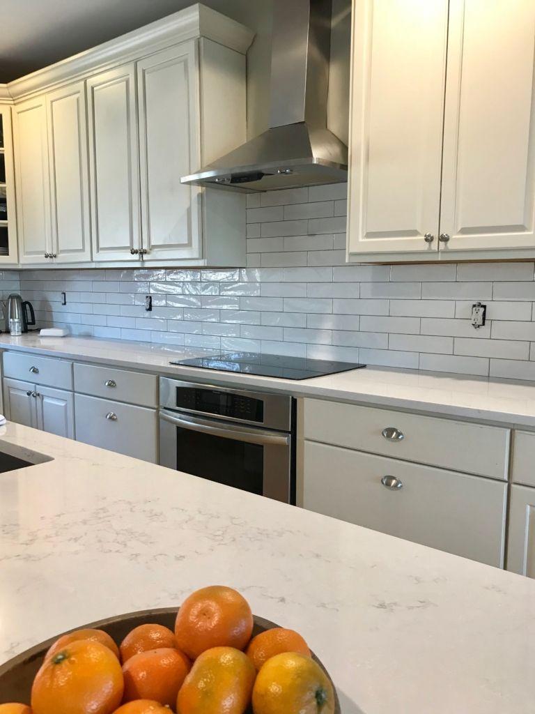 hanstone white quartz counter top kitchen review my city farmhouse rh pinterest com