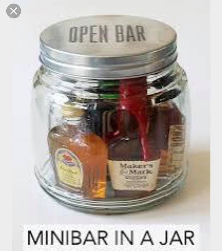 pinterest mason jar bridal shower favors%0A It u    s customary to give gifts to those involved in your wedding party   mostly to tell them thank you  This minibar in a jar gift idea is great for  giving to