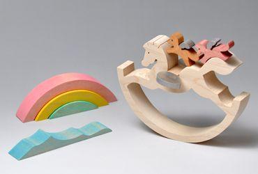 組み木 木のおもちゃ 『遊プラン』 KA427   天馬のシーソー・MC