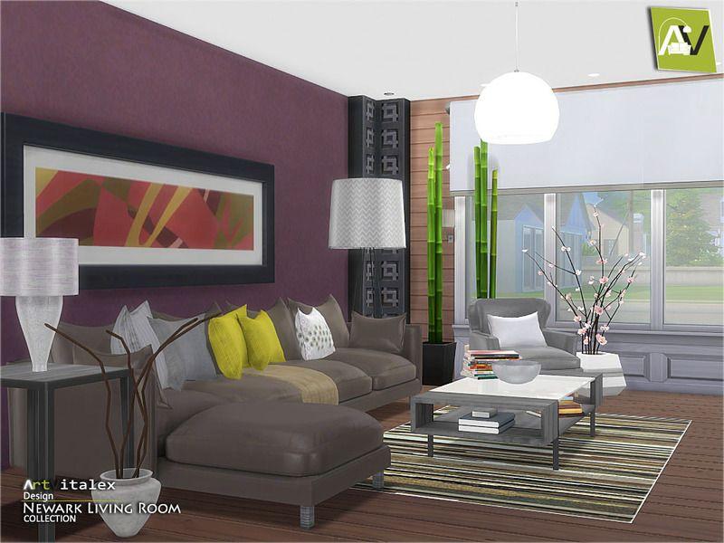 Lovely Newark Living Room Found In TSR Category U0027Sims 4 Living Room Setsu0027