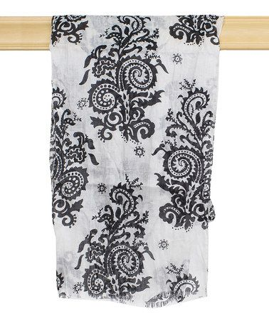 Look what I found on #zulily! Black & White Floral Scarf by Magid #zulilyfinds