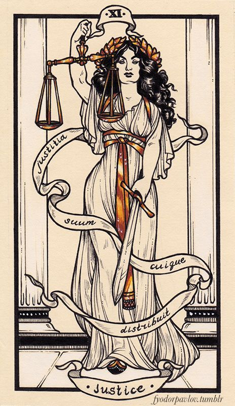 Justice Tarot Card Fyodor Pavlov Tarot Cards Art Tarot Tattoo Justice Tarot