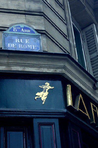 La rue de Rome  (Paris 8ème).