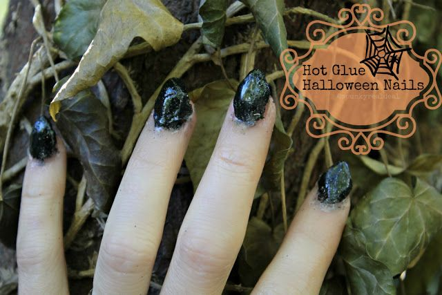 Hot glue Halloween nails! #nailart #nails #halloween # ...