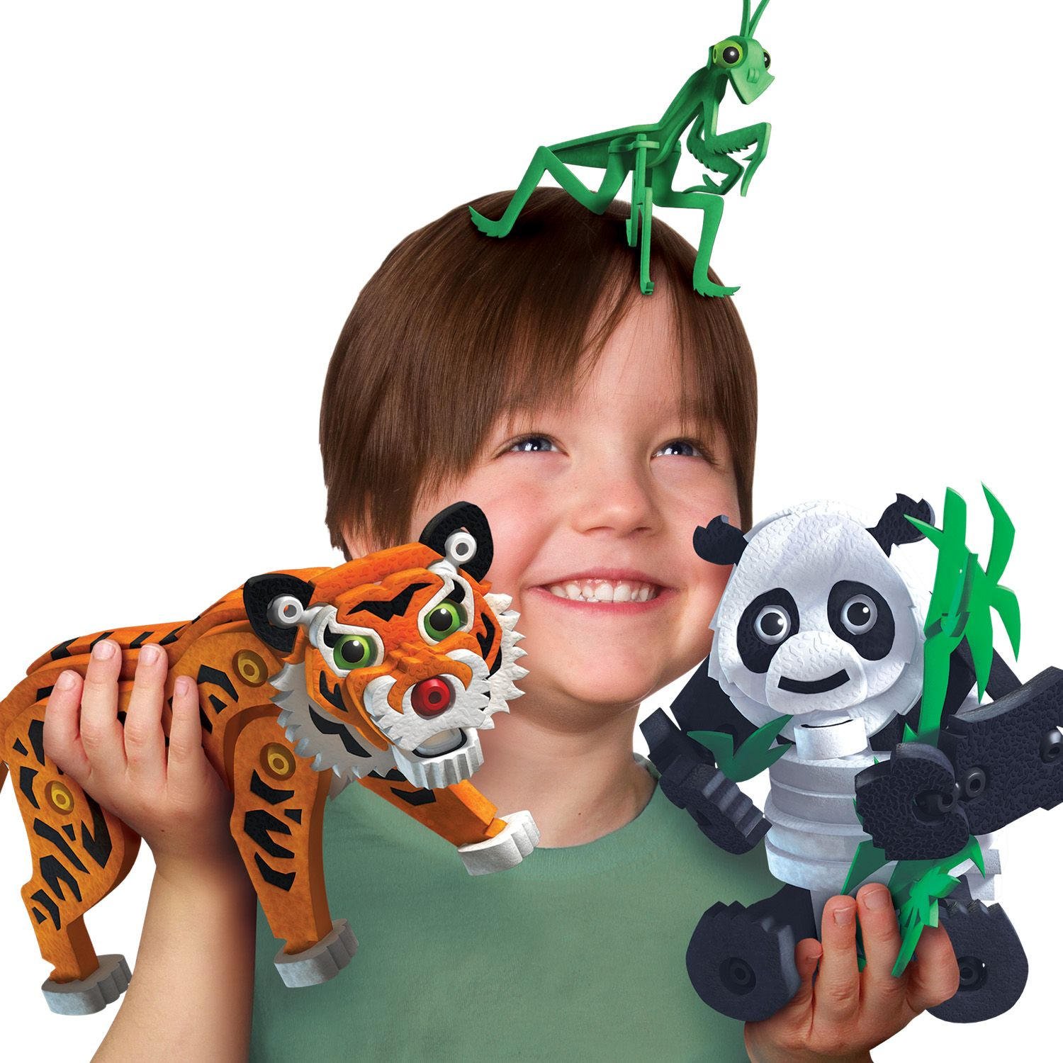 Bloco Construction Toys Tiger and Panda Toys line