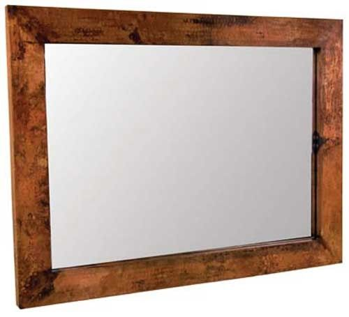 Mathews And Co. Large Rectangle Copper Mirror