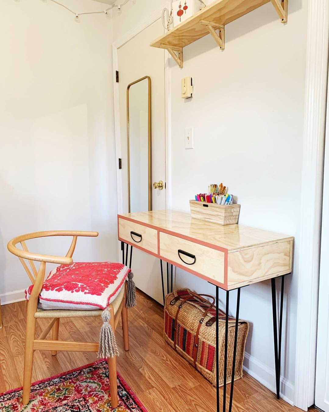 reading and art area bedroom boho mid century design teen rh pinterest com