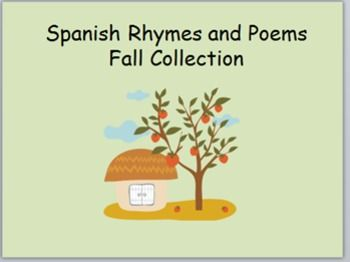 spanish rhymes poems for fall dual language kindergarten prek homeschool spanish and language. Black Bedroom Furniture Sets. Home Design Ideas