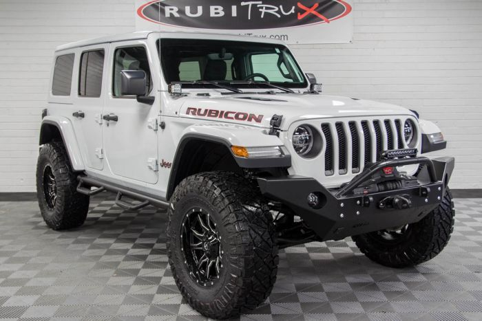 2018 Jeep Wrangler Rubicon Unlimited Jl Bright White In 2020 Jeep Wrangler Rubicon Wrangler Rubicon Jeep Wrangler Lifted