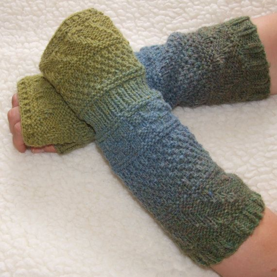 Womens Mens Fingerless Gloves Knit Gloves By Ladyligashop On Etsy