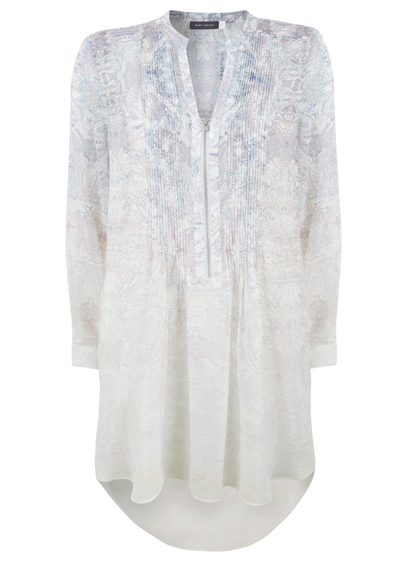 Print Mintvelvet Lorna Clothing Longline Blouse Tops F01Rqd