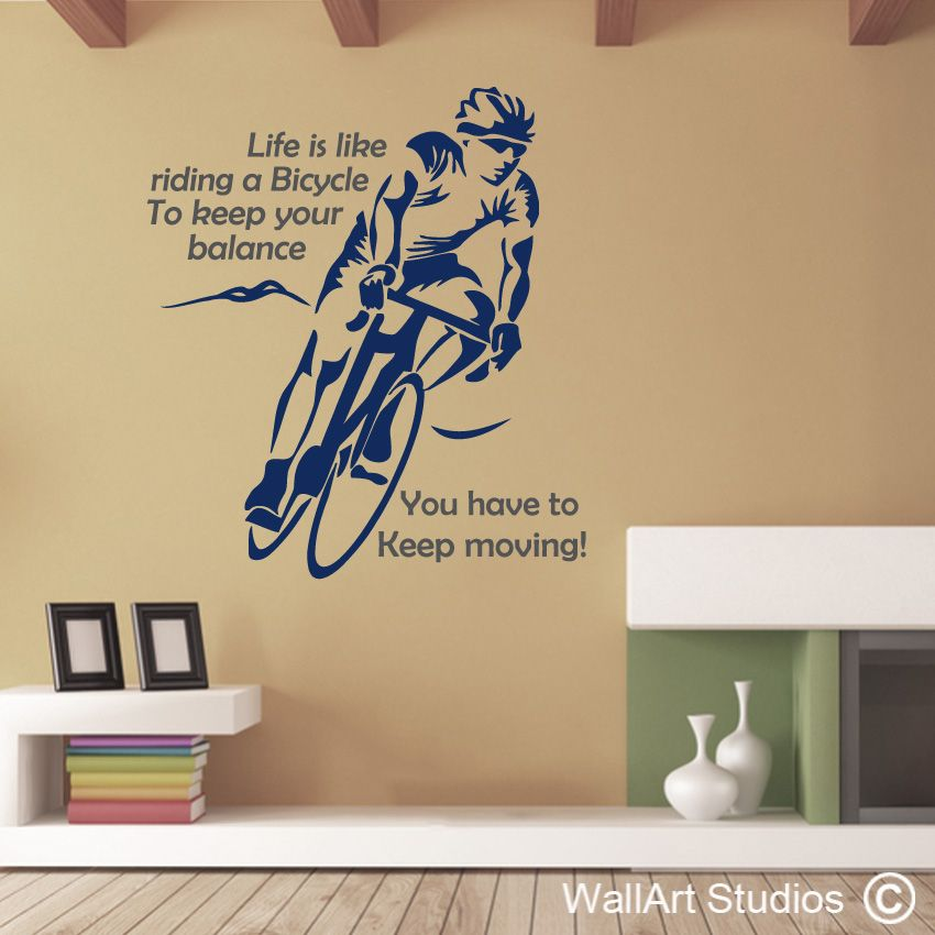 Cycling Wall Art Decal Wall Art Stickers And Vinyl Decals - Custom vinyl decals for bicycles
