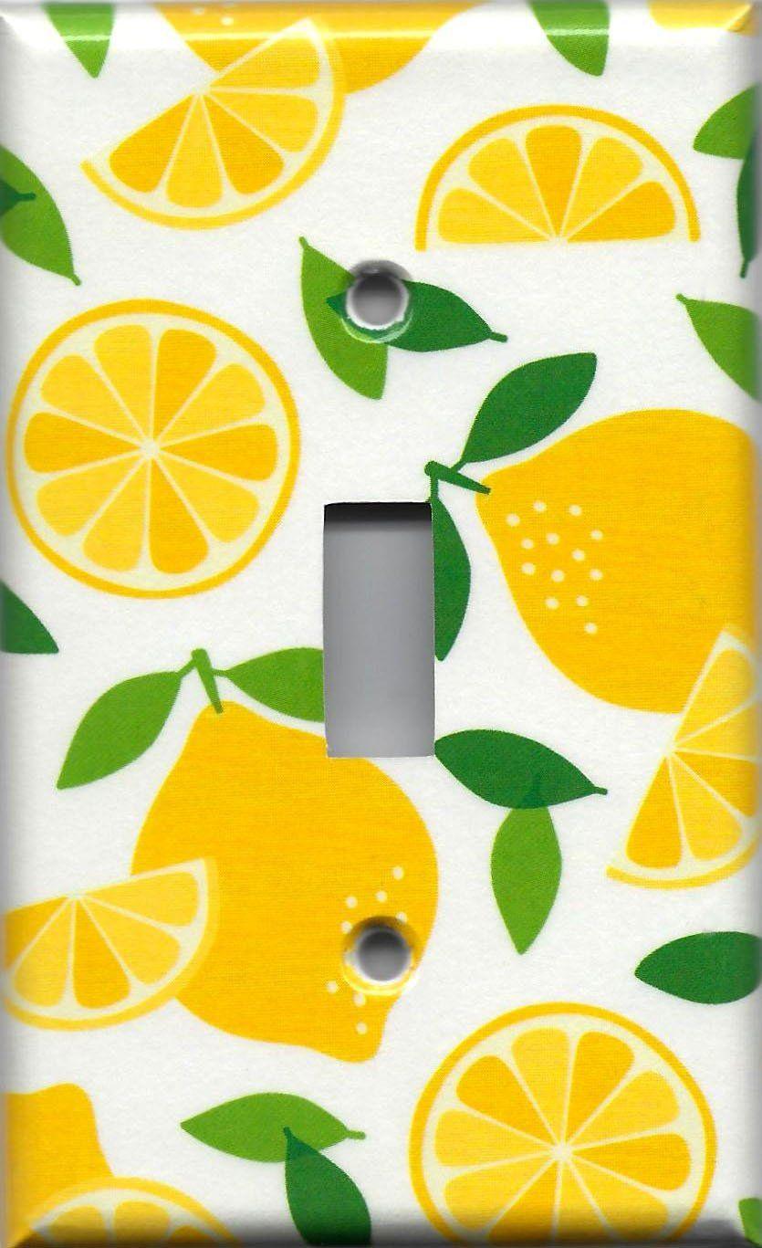 Bright Yellow Lemon Slices Kitchen Decor Light Switch