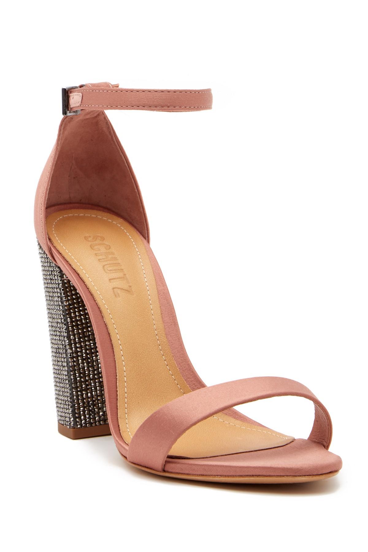 446bd4f3e07 Hara Crystal Embellished Block Heel Sandal by Schutz on  HauteLook ...